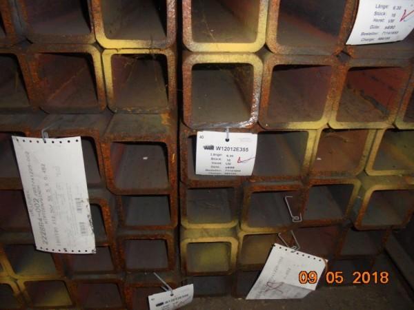 Warmgewalzte Hohlprofile, Güte FineXcell 690, nahtlos, vergütet, 120 x 120 x 12,5 mm